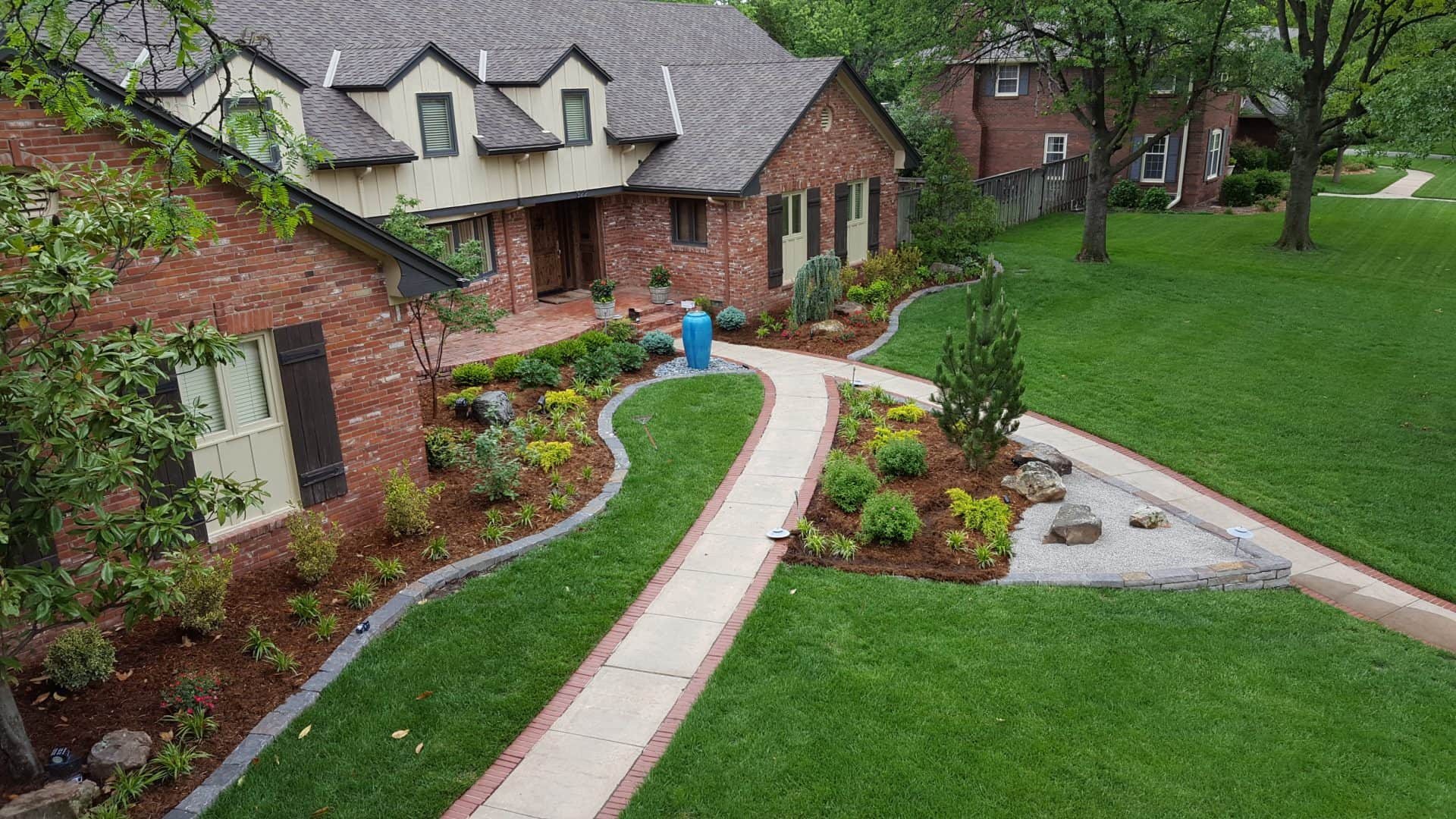 Landscaped Gardens Facility: Hong's Landscape And Nursery Wichita KS Premier Design